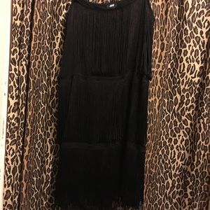 H&M size Small Black fringe Gatsby Dress 20's